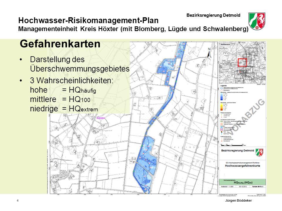 Bezirksregierung Detmold Hochwasser-Risikomanagement-Plan Managementeinheit Kreis Höxter (mit Blomberg, Lügde und Schwalenberg) 4 Gefahrenkarten Darst