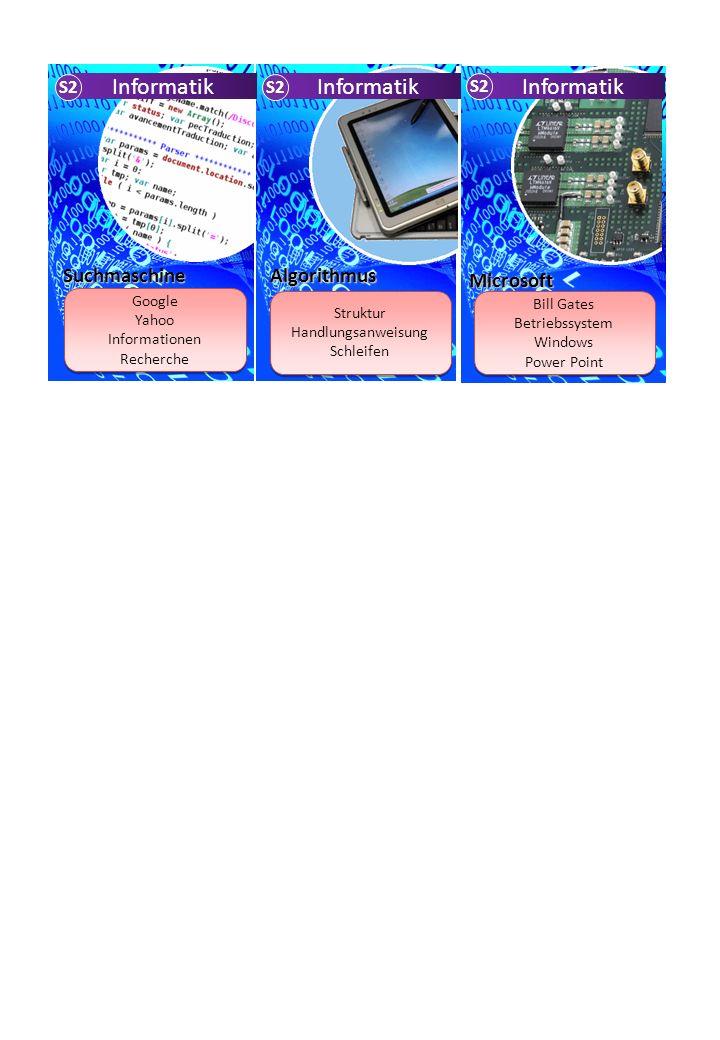 Suchmaschine Google Yahoo Informationen Recherche Google Yahoo Informationen Recherche Struktur Handlungsanweisung Schleifen Struktur Handlungsanweisu