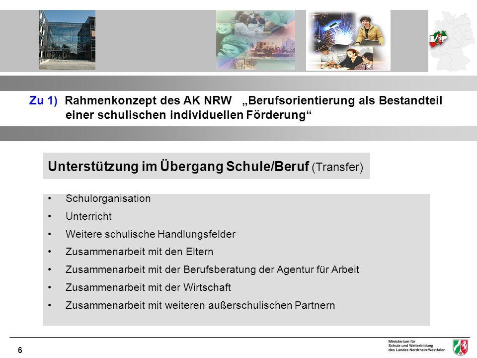7 Zu 2) Aktualisierung des Erlasses StuBo Neuerungen: Berufsorientierung in der Sek.