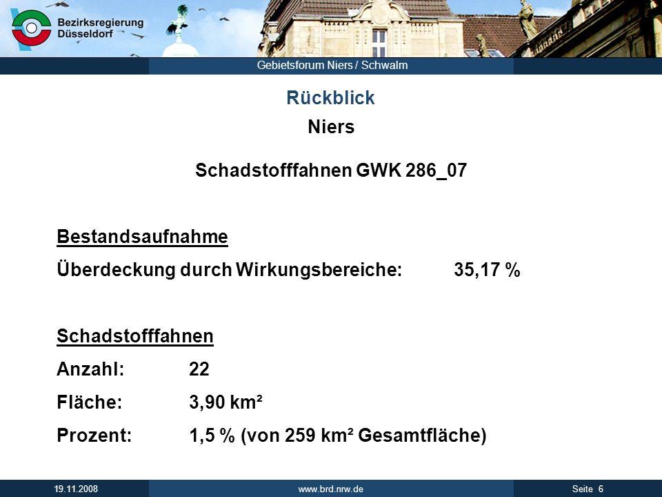 www.brd.nrw.de 17Seite 19.11.2008 Gebietsforum Niers / Schwalm WRRL - Grundwasser Vielen Dank für Ihre Aufmerksamkeit!