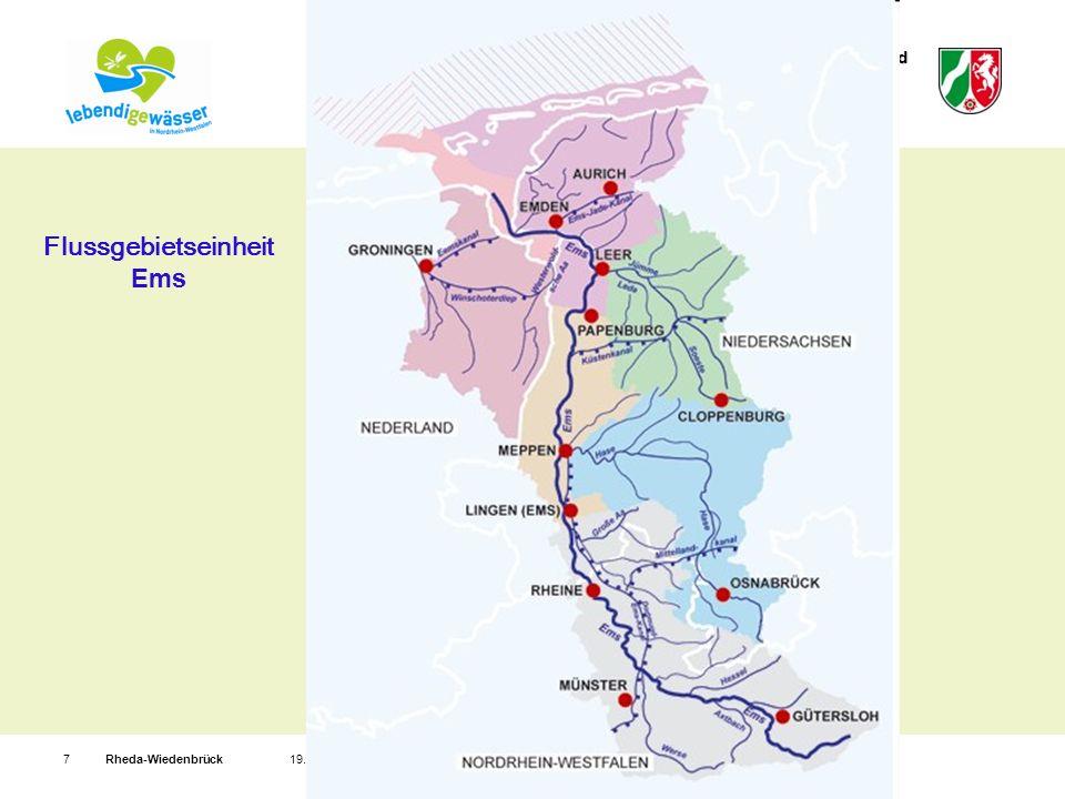 Bezirksregierung Detmold Rheda-Wiedenbrück719. Mai 2009 Flussgebietseinheit Ems