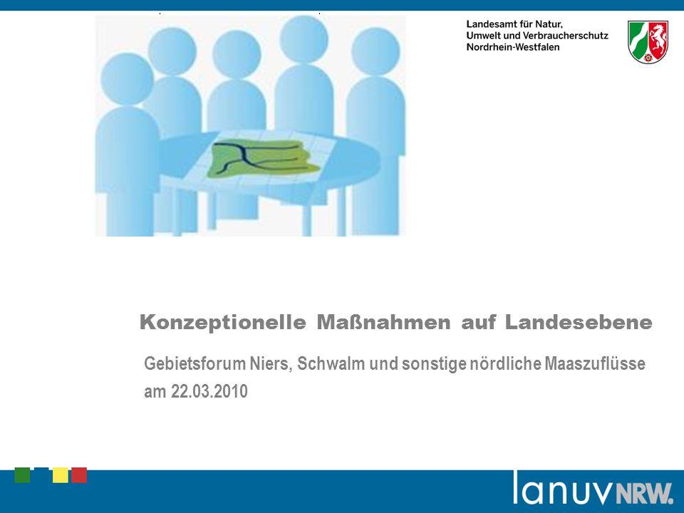 Platzhalter Grafik (Bild/Foto) Konzeptionelle Maßnahmen auf Landesebene Gebietsforum Niers, Schwalm und sonstige nördliche Maaszuflüsse am 22.03.2010