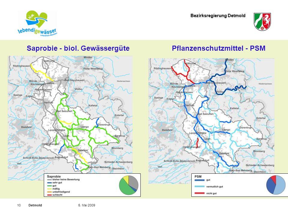 Bezirksregierung Detmold Detmold105. Mai 2009 Saprobie - biol.