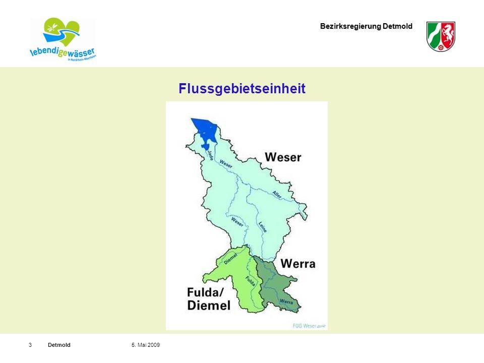 Bezirksregierung Detmold Detmold35. Mai 2009 Flussgebietseinheit