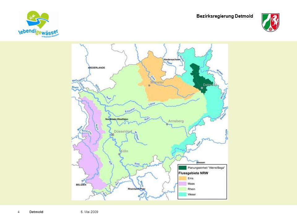 Bezirksregierung Detmold Detmold55. Mai 2009 Planungseinheit, z.B. PE_WES_1600: Bega