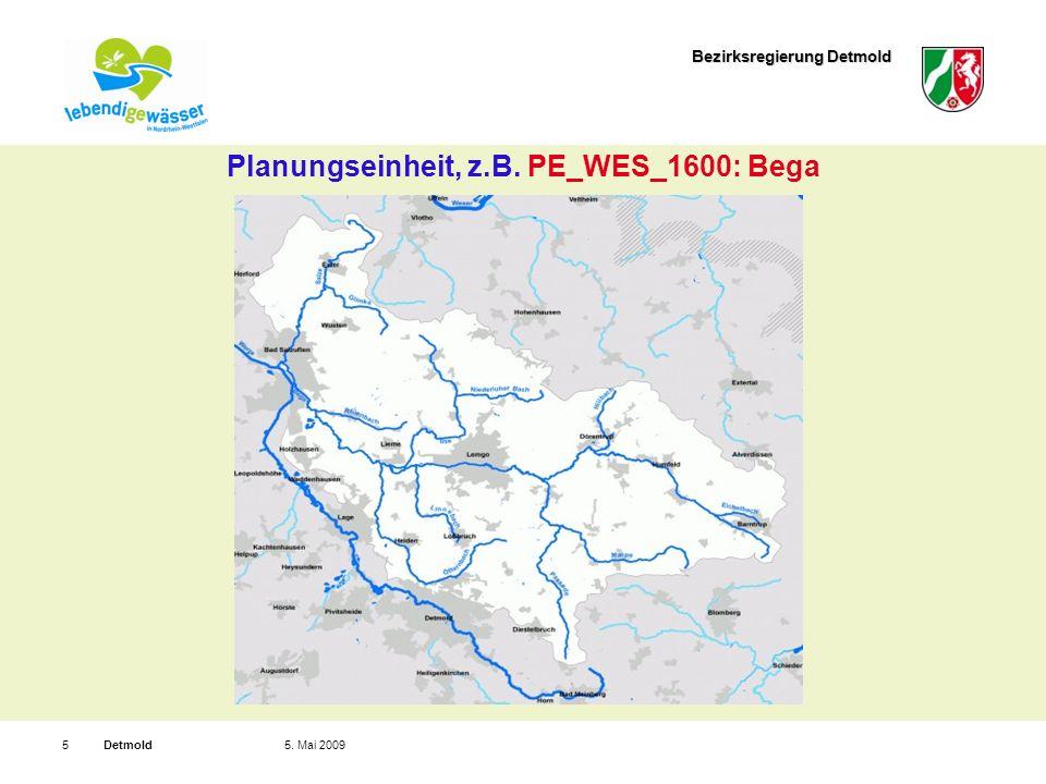 Bezirksregierung Detmold Detmold65. Mai 2009 Wasserkörpergruppen, z.B. WKG_WES_1601
