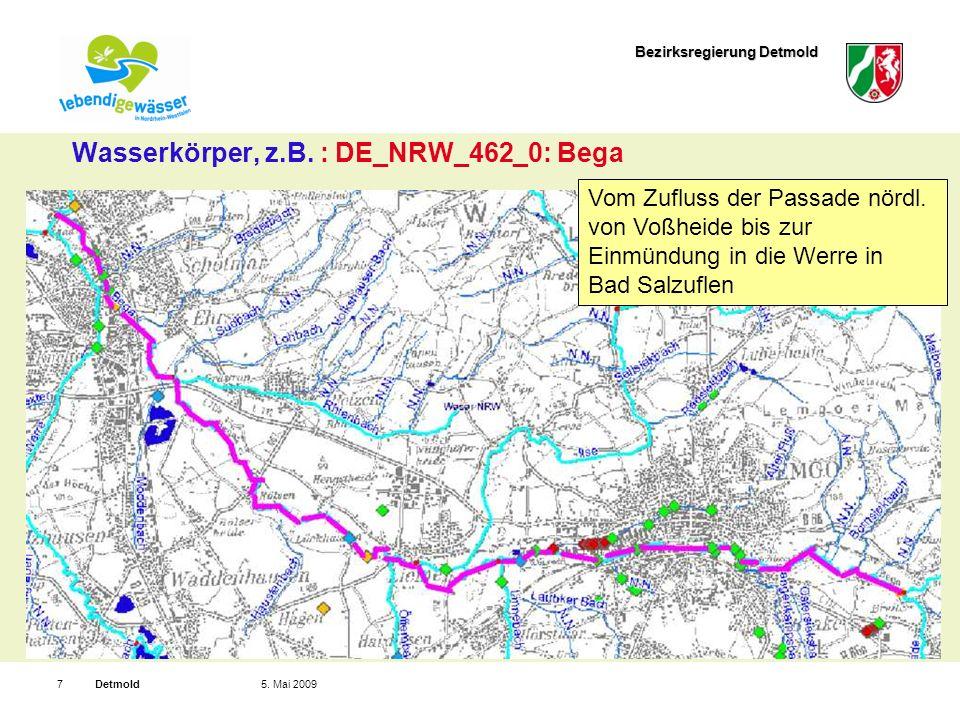 Bezirksregierung Detmold Detmold75. Mai 2009 Wasserkörper, z.B.