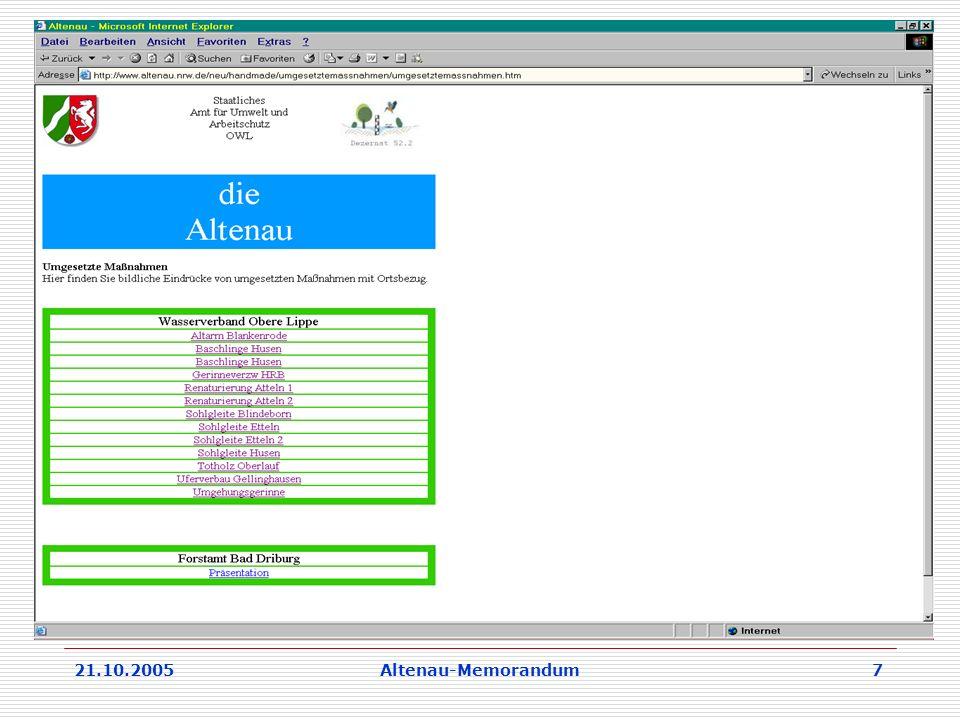 21.10.2005Altenau-Memorandum 7