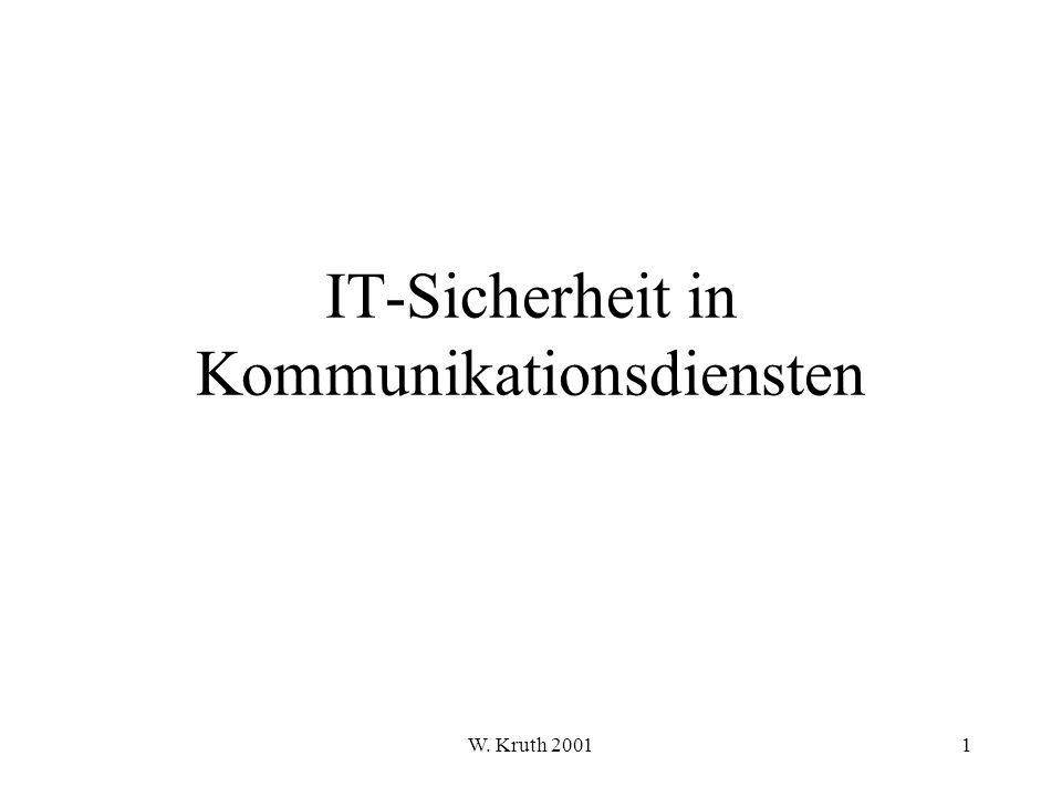W. Kruth 2001152 Teil 4.2 TCP/IP-Protokoll