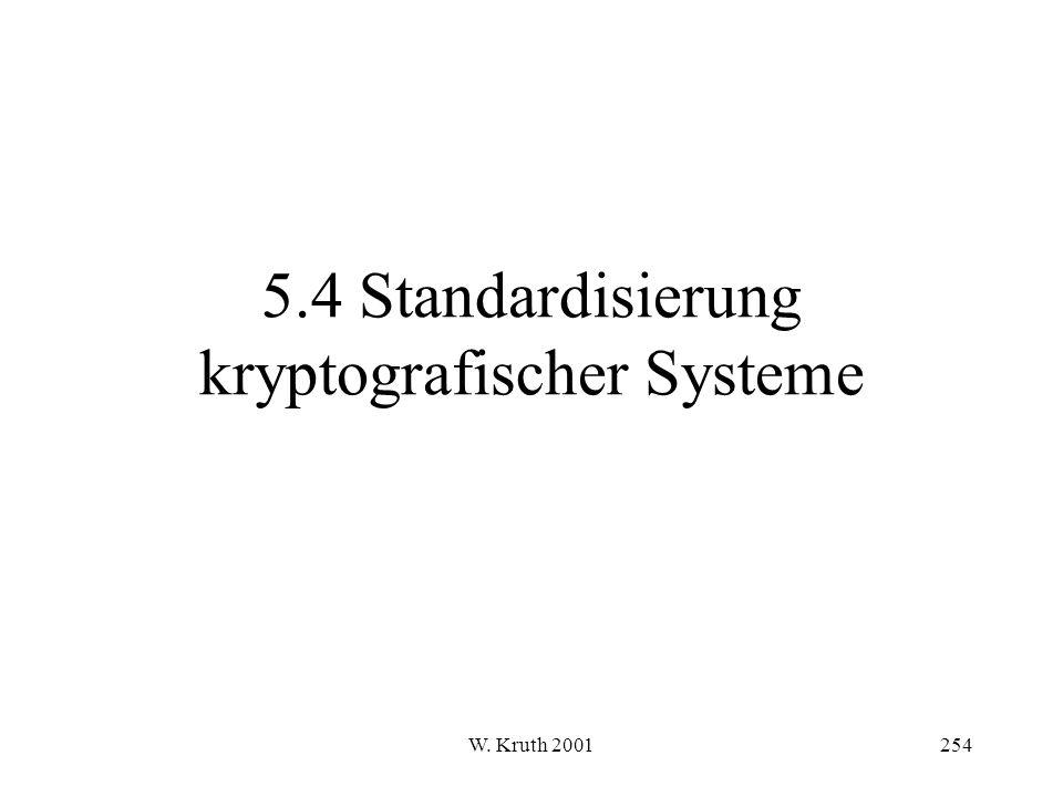 W. Kruth 2001254 5.4 Standardisierung kryptografischer Systeme