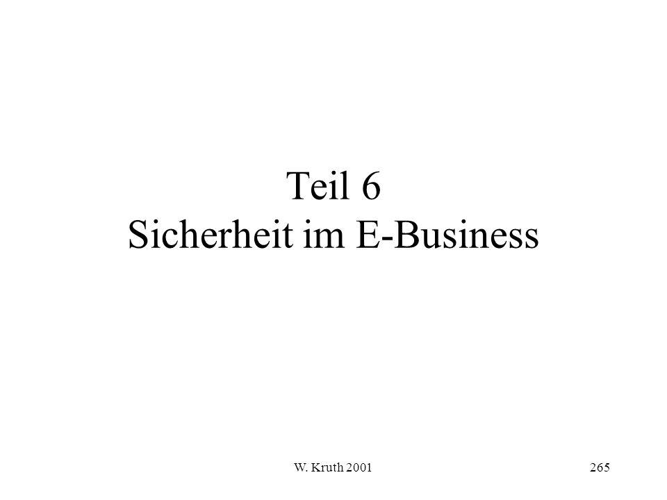 W. Kruth 2001265 Teil 6 Sicherheit im E-Business