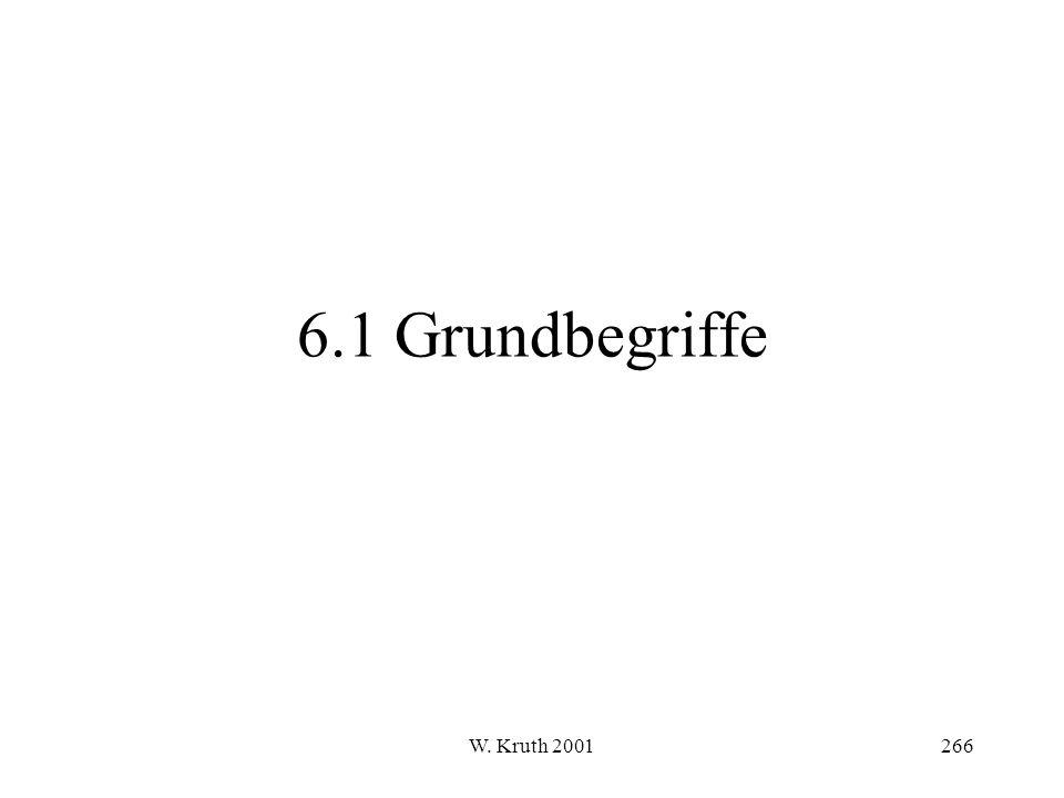 W. Kruth 2001266 6.1 Grundbegriffe