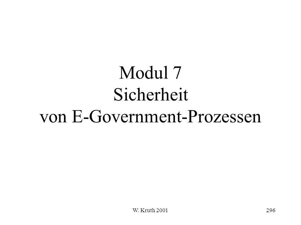 W. Kruth 2001296 Modul 7 Sicherheit von E-Government-Prozessen
