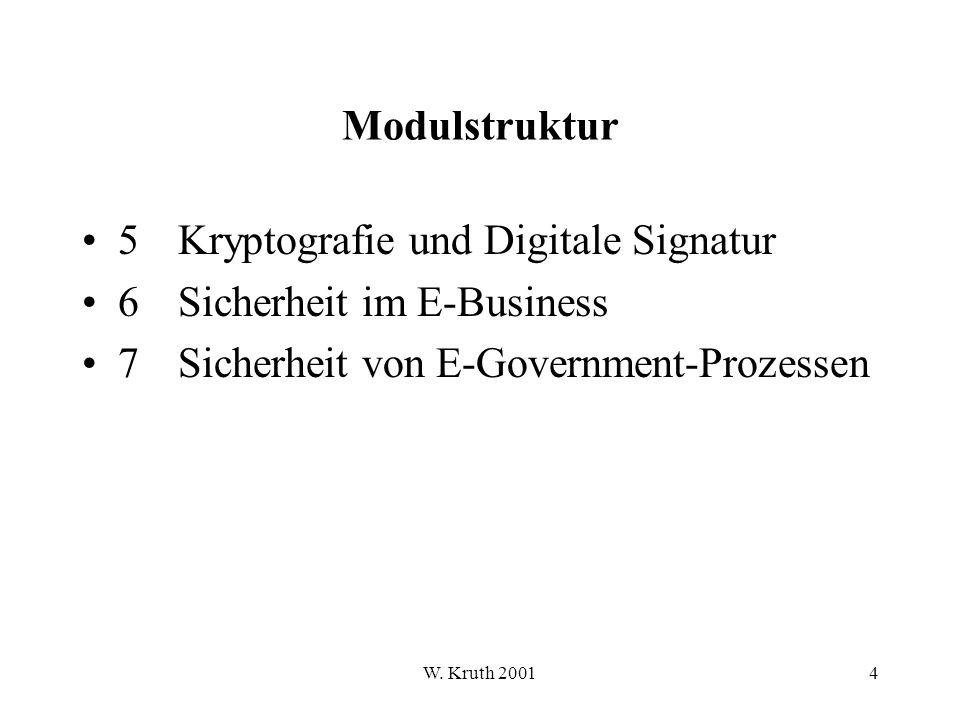 W. Kruth 20015 Modul 1 Datenschutz Datensicherung IT-Sicherheit