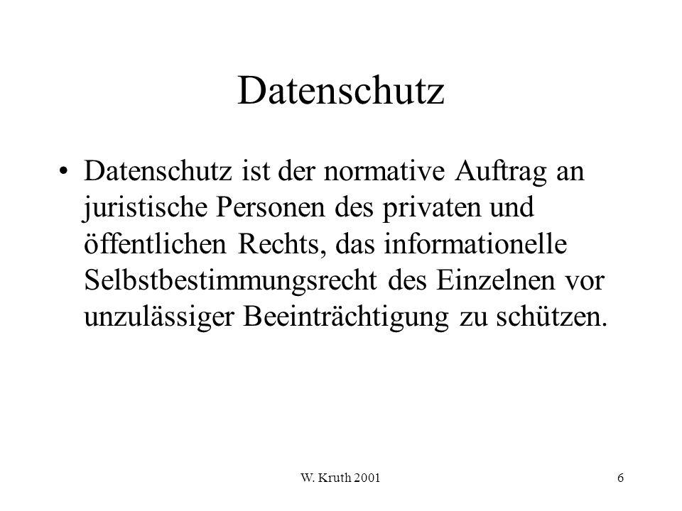 W.Kruth 200197 Bedrohungsanalyse Bei der Ermittlung der Wirkungsgrößen sind u.a.
