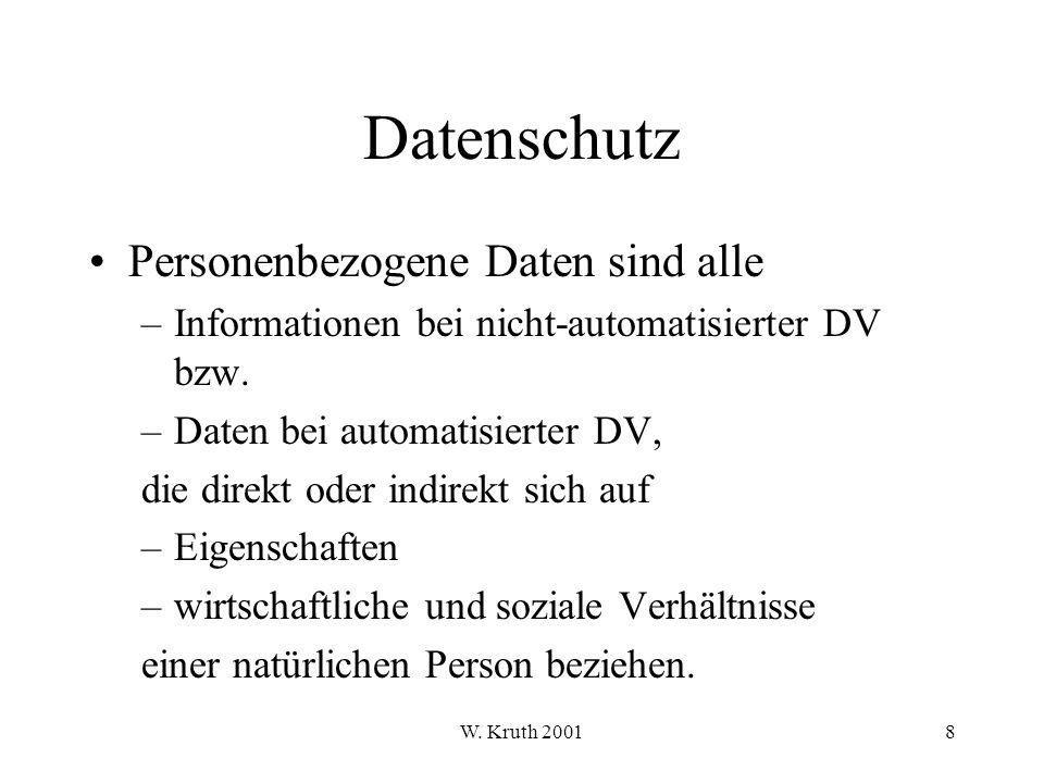 W.Kruth 200179 Schutzbedarfsfeststellung Gestaltungsregeln sind u.a.