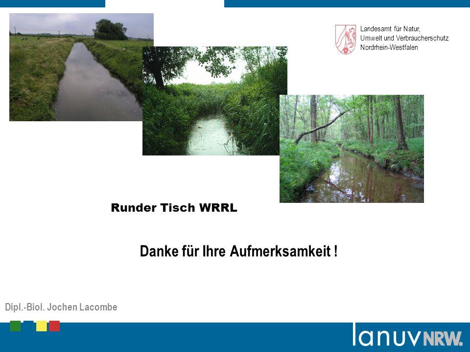 Platzhalter Grafik (Bild/Foto) Landesamt für Natur, Umwelt und Verbraucherschutz Nordrhein-Westfalen Runder Tisch WRRL Danke für Ihre Aufmerksamkeit .