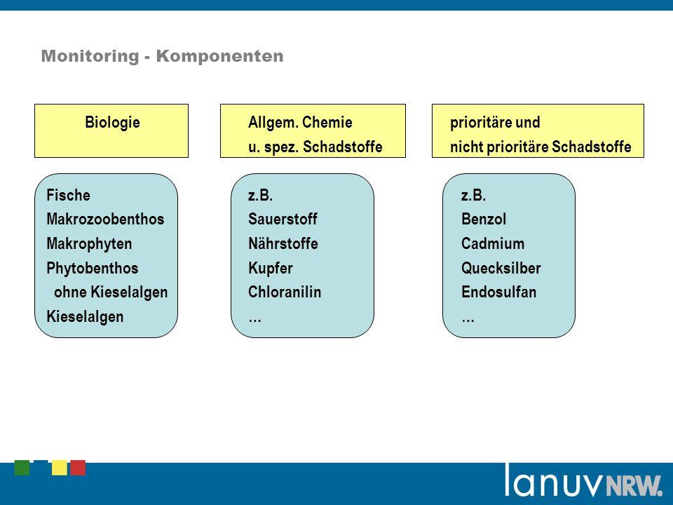 Monitoring - Komponenten BiologieAllgem.Chemieprioritäre und u.