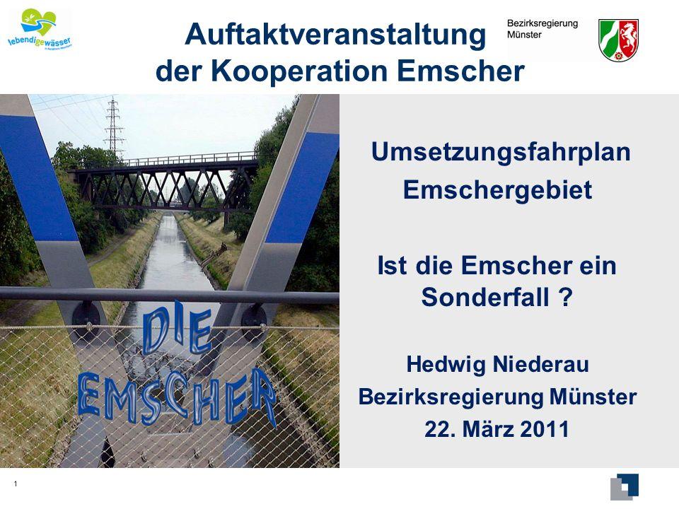 Sonderfall Emscher Münsterland (~ 300 E/km²) Ruhrgebiet (~ 2 700 E/km²) 2