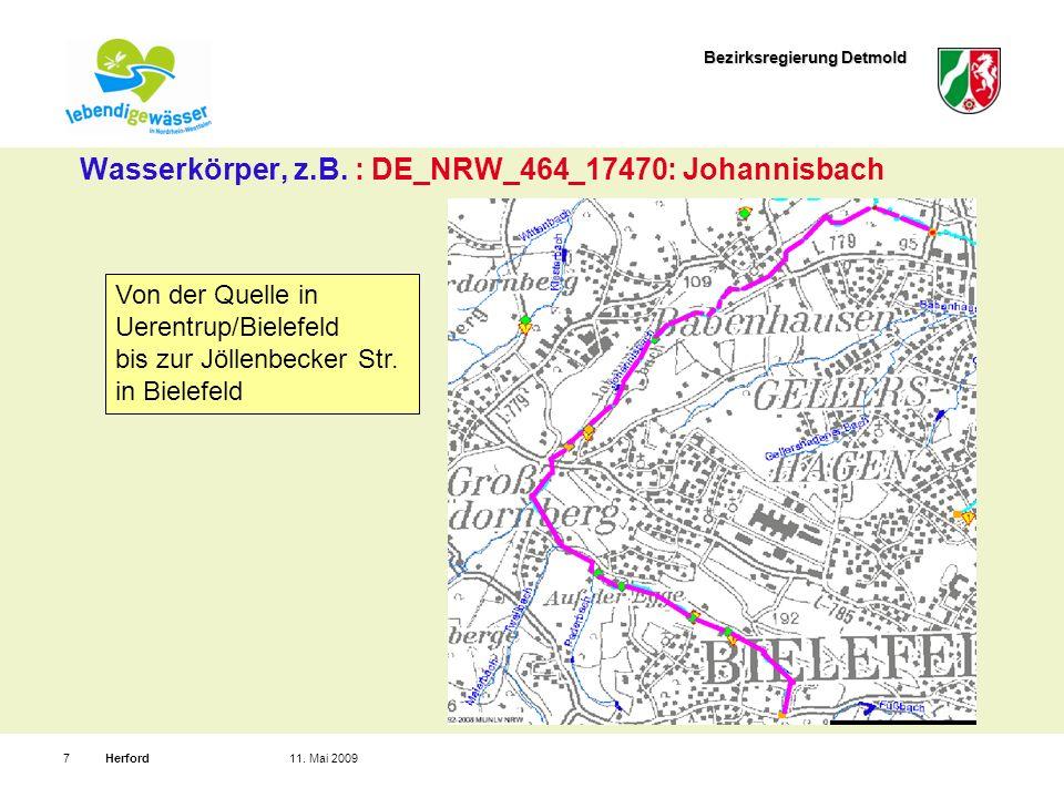 Bezirksregierung Detmold Herford711. Mai 2009 Wasserkörper, z.B.
