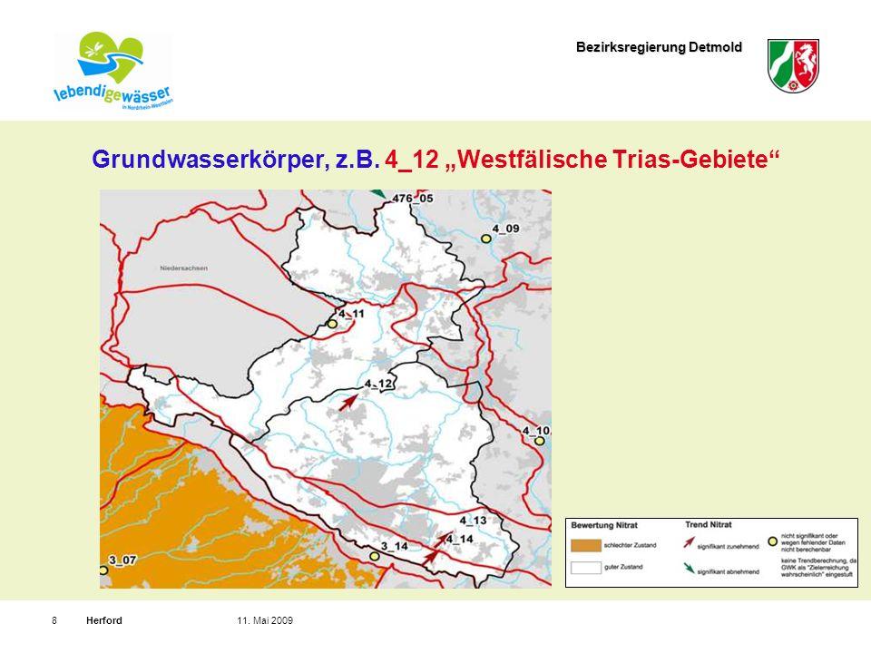 Bezirksregierung Detmold Herford811. Mai 2009 Grundwasserkörper, z.B.