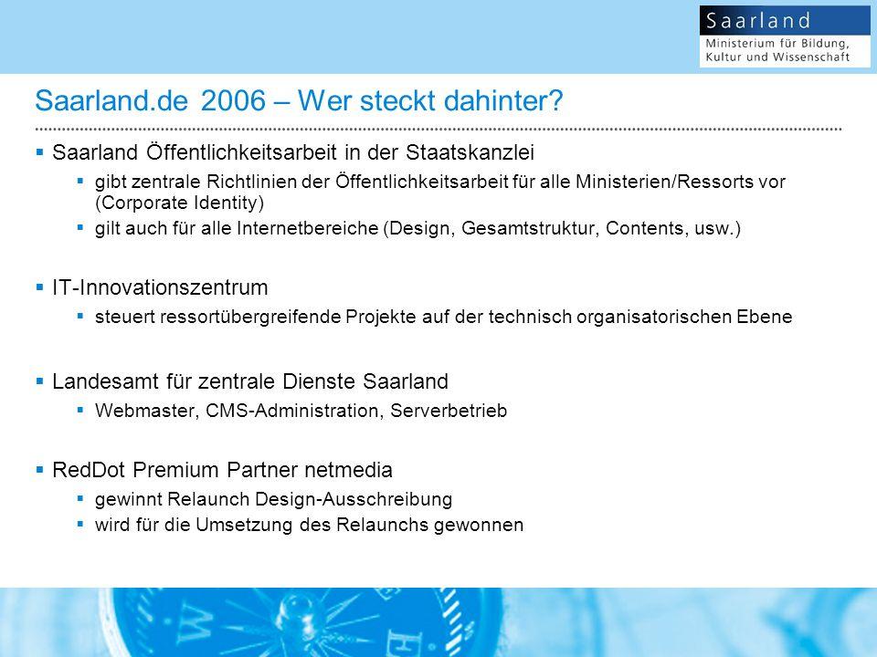 Saarland.de 2006 – Wer steckt dahinter.