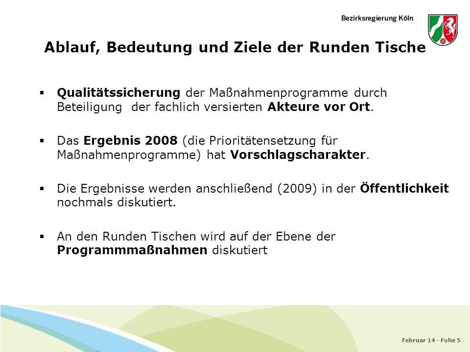 Februar 14 - Folie 5 Qualitätssicherung der Maßnahmenprogramme durch Beteiligung der fachlich versierten Akteure vor Ort. Das Ergebnis 2008 (die Prior