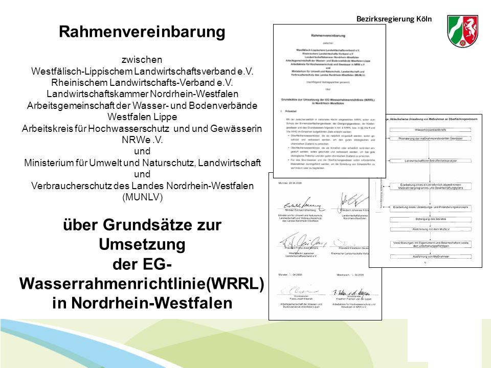 Februar 14 - Folie 9 Rahmenvereinbarung zwischen Westfälisch-Lippischem Landwirtschaftsverband e.V. Rheinischem Landwirtschafts-Verband e.V. Landwirts