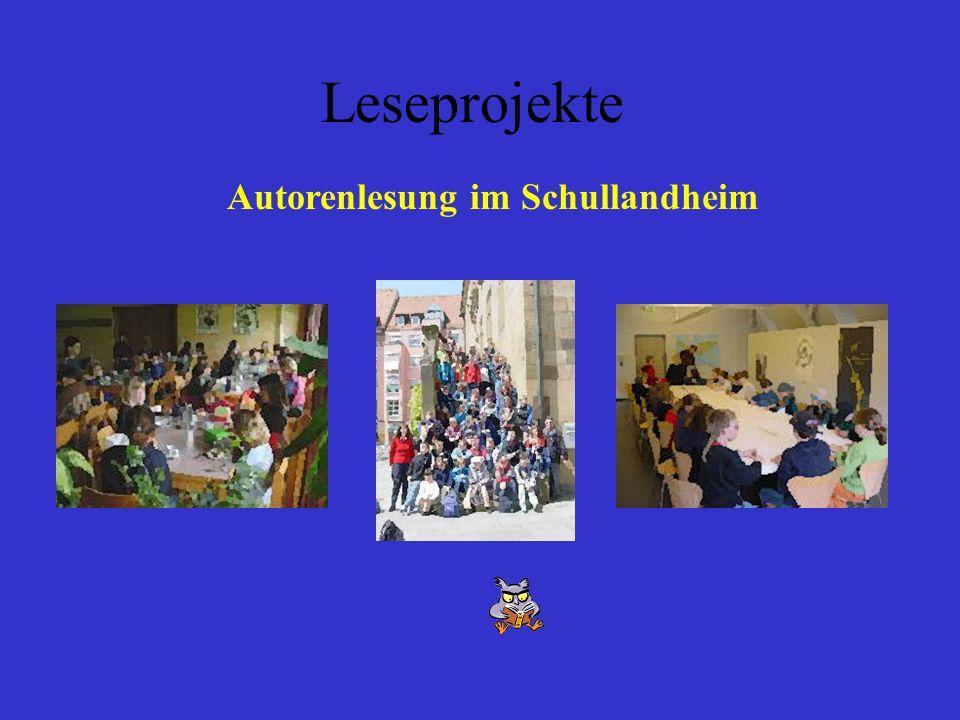 Leseprojekte Autorenlesung im Schullandheim