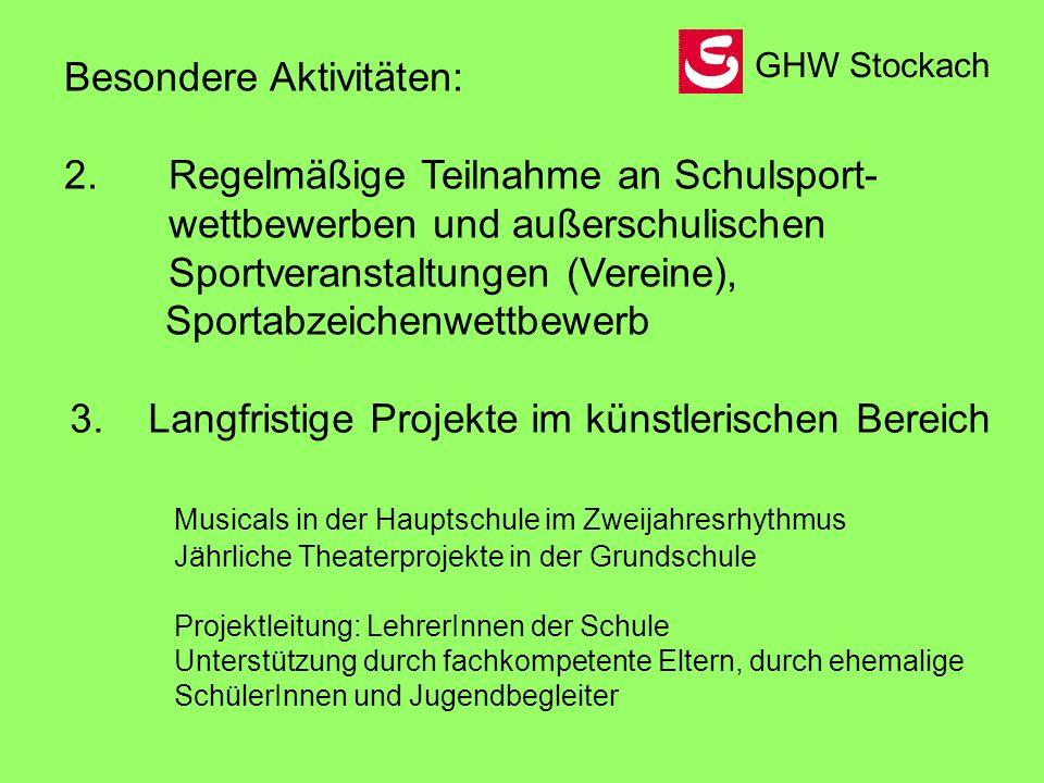 AG Angebote Schuljahr 2006/07 GHW Stockach Schülerzeitung Montag, 14.30 – 16.00 Uhr Computerraum H.