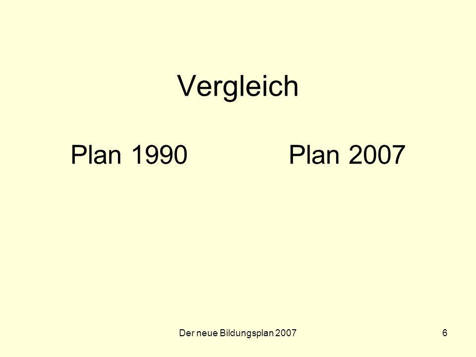 Der neue Bildungsplan 200717 Der neue Bildungsplan Gliederung