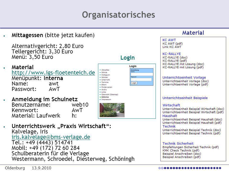 Oldenburg 13.9.2010 Mittagessen (bitte jetzt kaufen) Alternativgericht: 2,80 Euro Tellergericht: 3,30 Euro Menü: 3,50 Euro Material http://www.igs-flo
