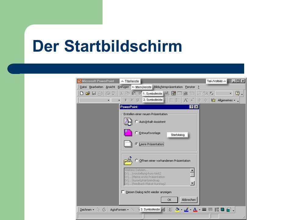 Der Startbildschirm