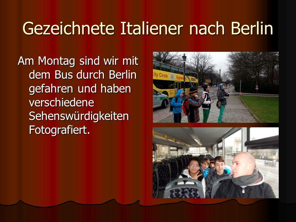 Gezeichnete Italiener nach Berlin Tag 1