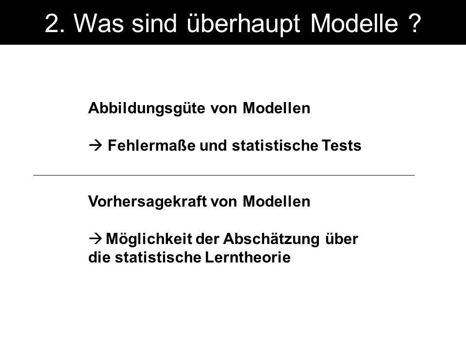 2. Was sind überhaupt Modelle .