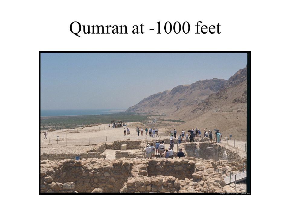 Qumran at -1000 feet