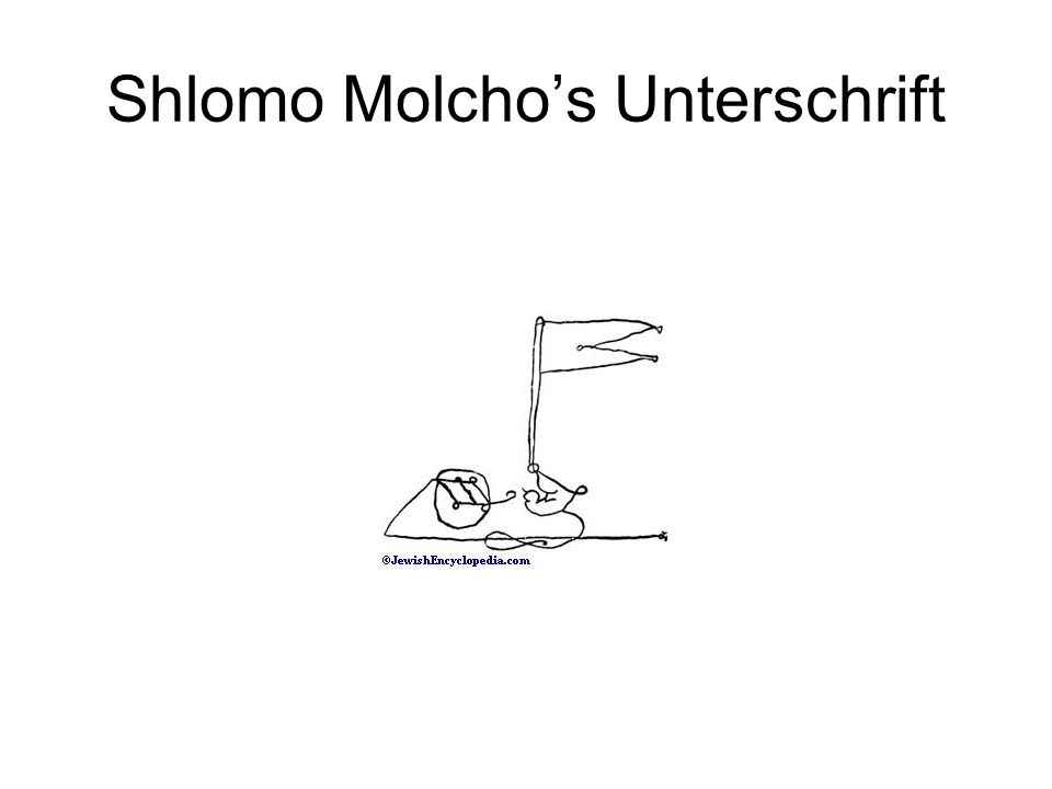 Shlomo Molchos Unterschrift