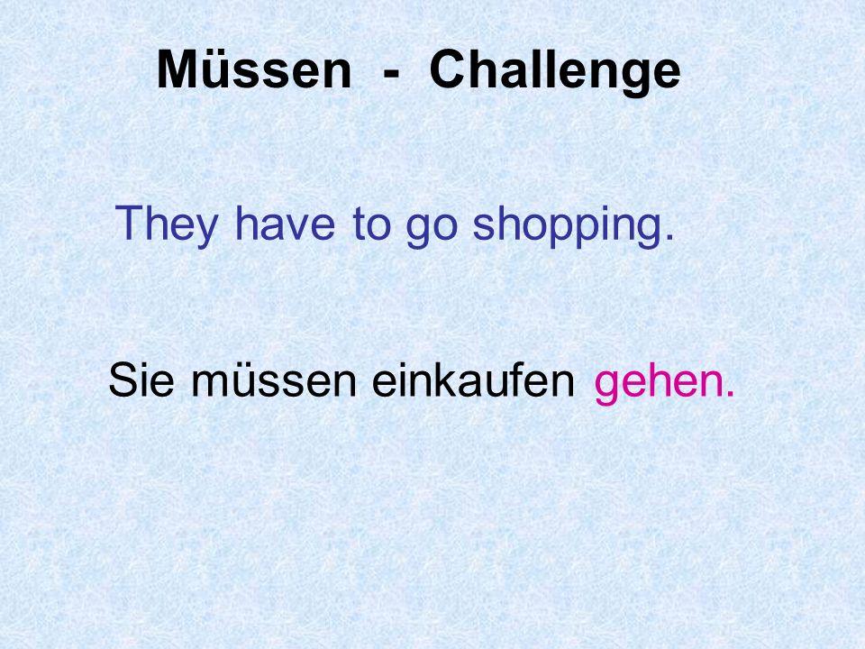 Müssen - Challenge We must do the ironing. Wir müssen bügeln.