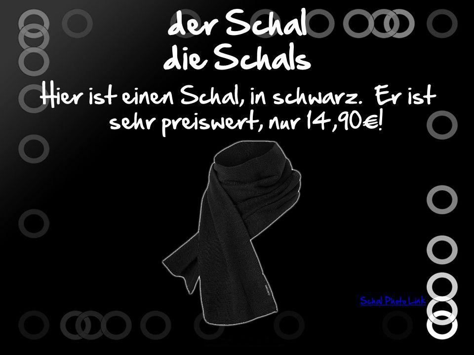 der Schal die Schals Hier ist einen Schal, in schwarz.
