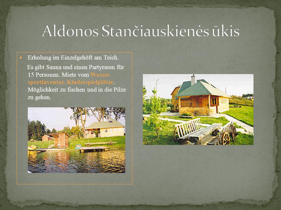 Erholung im Einzelgehöft am Teich. Es gibt Sauna und einen Partyraum für 15 Personen.