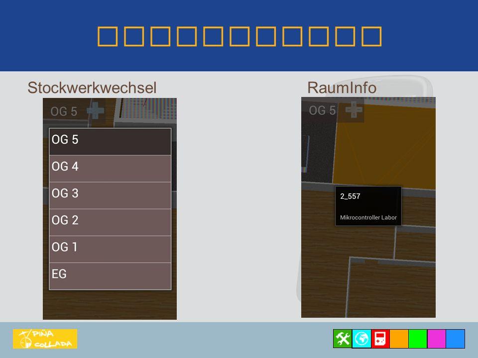 Navigation Techniken: 2D-Steuerung Rotation/Neigung Zoom Joystick und Swipe-Gesten Wie was steuern.