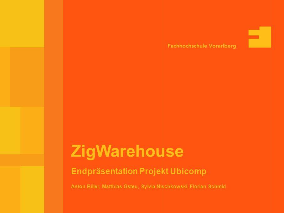 10-Feb-03 Seite 1 Anton Biller, Matthias Gsteu, Sylvia Nischkowski, Florian Schmid ZigWarehouse Endpräsentation Projekt Ubicomp