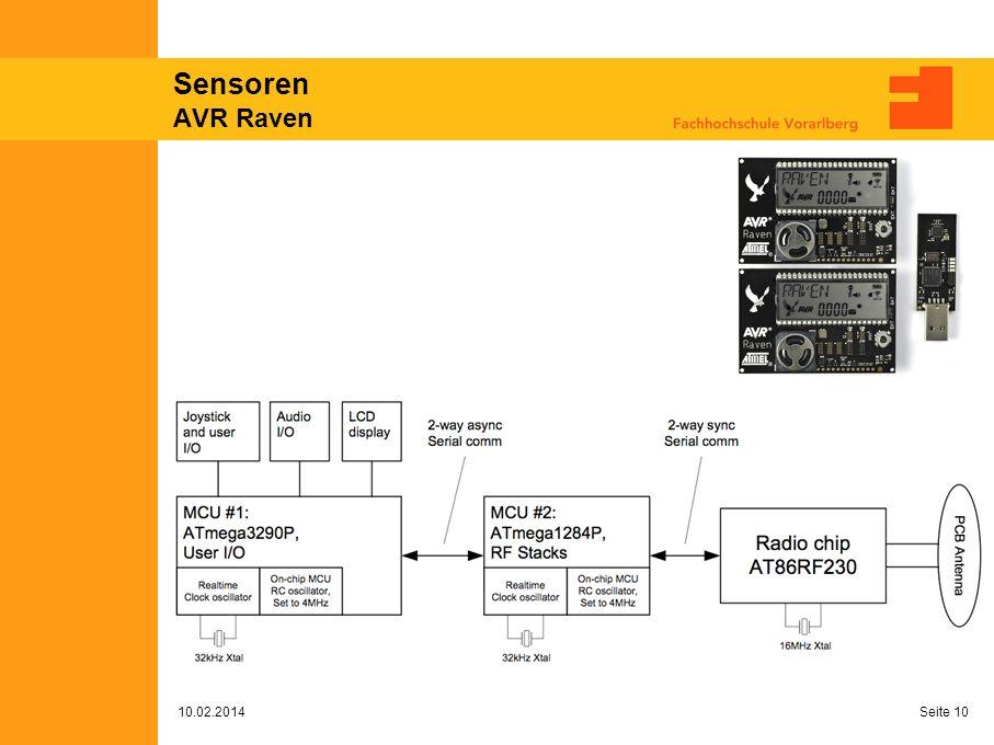 Sensoren AVR Raven 10.02.2014 Seite 10