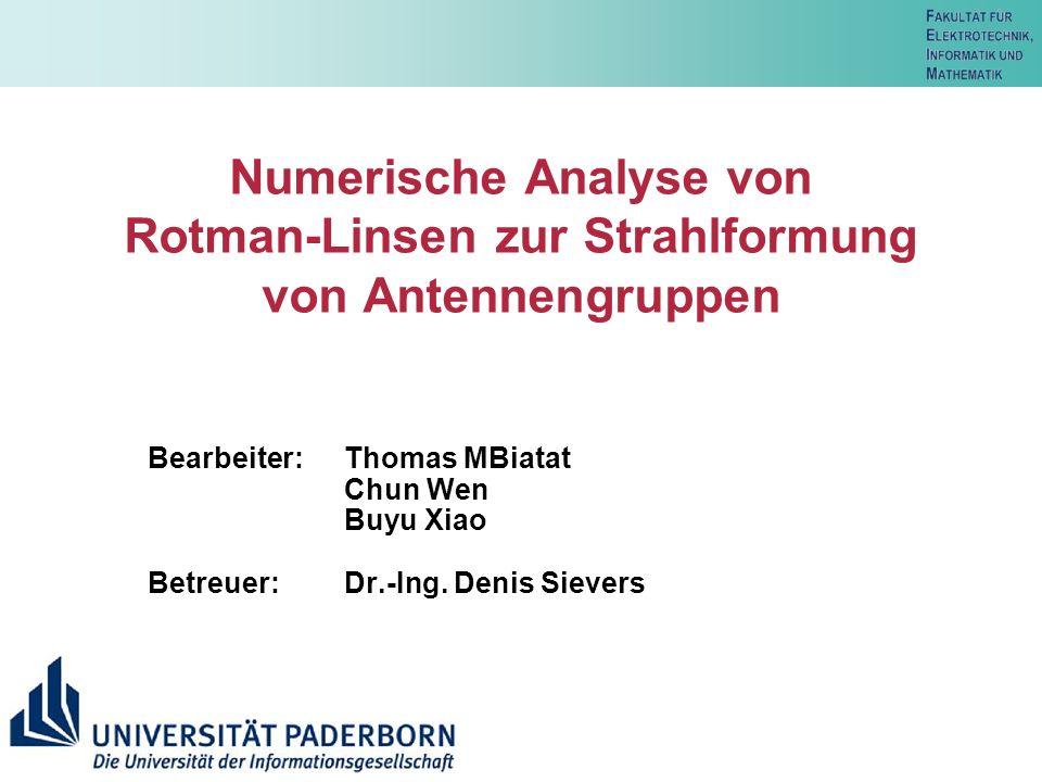 20 T.MBiatat, C. Wen, B. XiaoUniv. Paderborn, FG Theoretische Elektrotechnik 20 Literature [1] W.