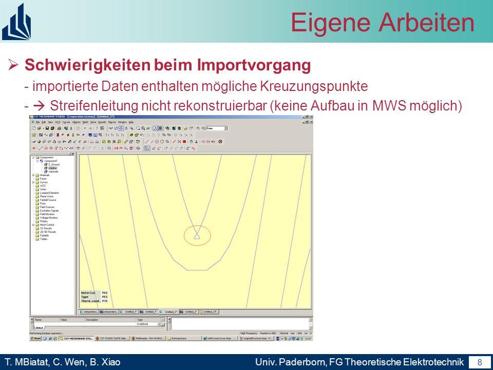 7 T. MBiatat, C. Wen, B. XiaoUniv. Paderborn, FG Theoretische Elektrotechnik 7 Gliederung Motivation und Ziele Analyse und Charakterisierung von Rotma