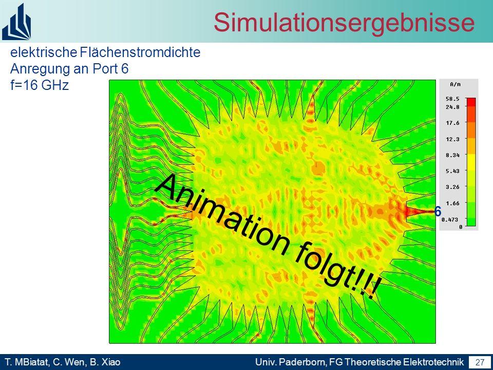 26 T. MBiatat, C. Wen, B. XiaoUniv. Paderborn, FG Theoretische Elektrotechnik 26 Eigene Arbeiten Ergebnis: Nach Anwendung des Algorithmus wird eine op