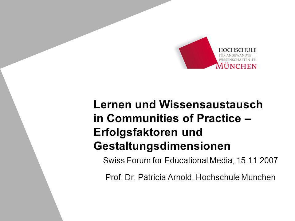 Swiss Forum for Educational Media, 15.11.2007 Prof.