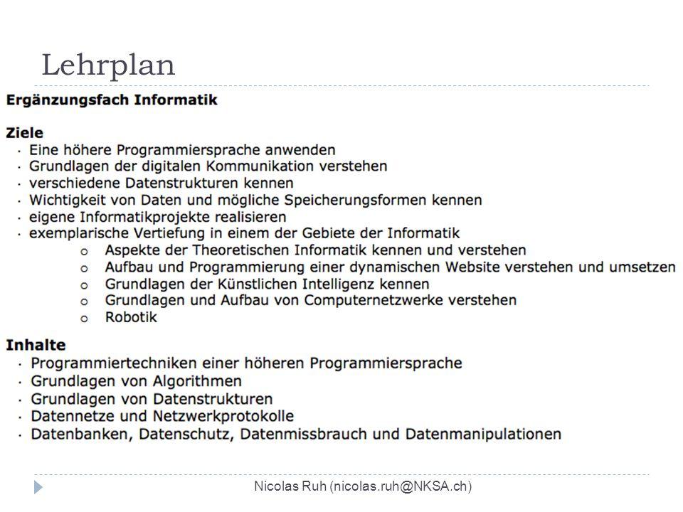 Lehrplan Nicolas Ruh (nicolas.ruh@NKSA.ch)