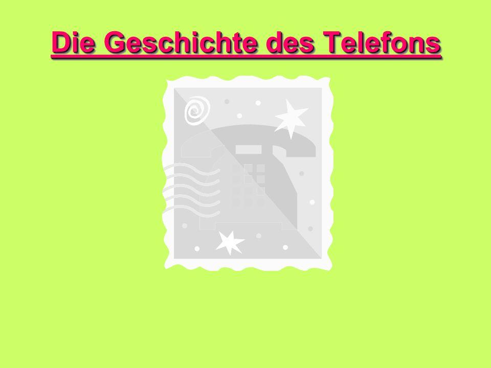 Die Geschichte des Telefons