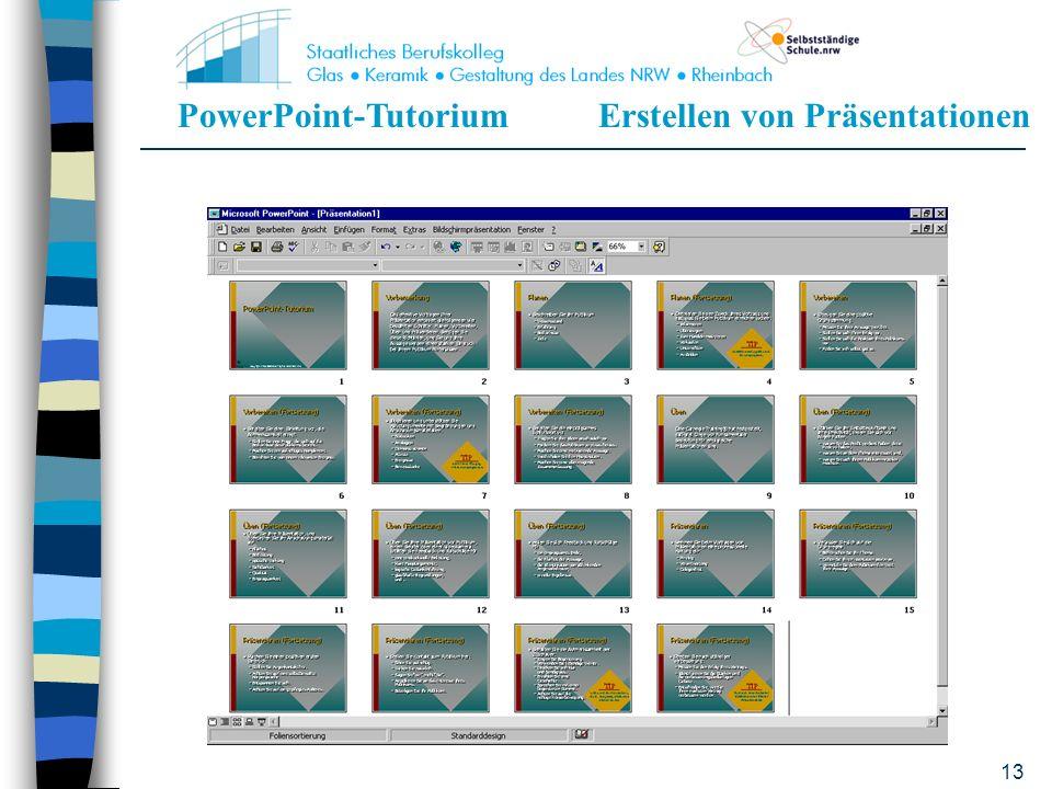 PowerPoint-TutoriumErstellen von Präsentationen 12